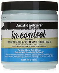 Aunt Jackie's Curls & Coils In Control Anti-Poof Moisturizing & Softening Conditioner - Beauty Bar & Supply