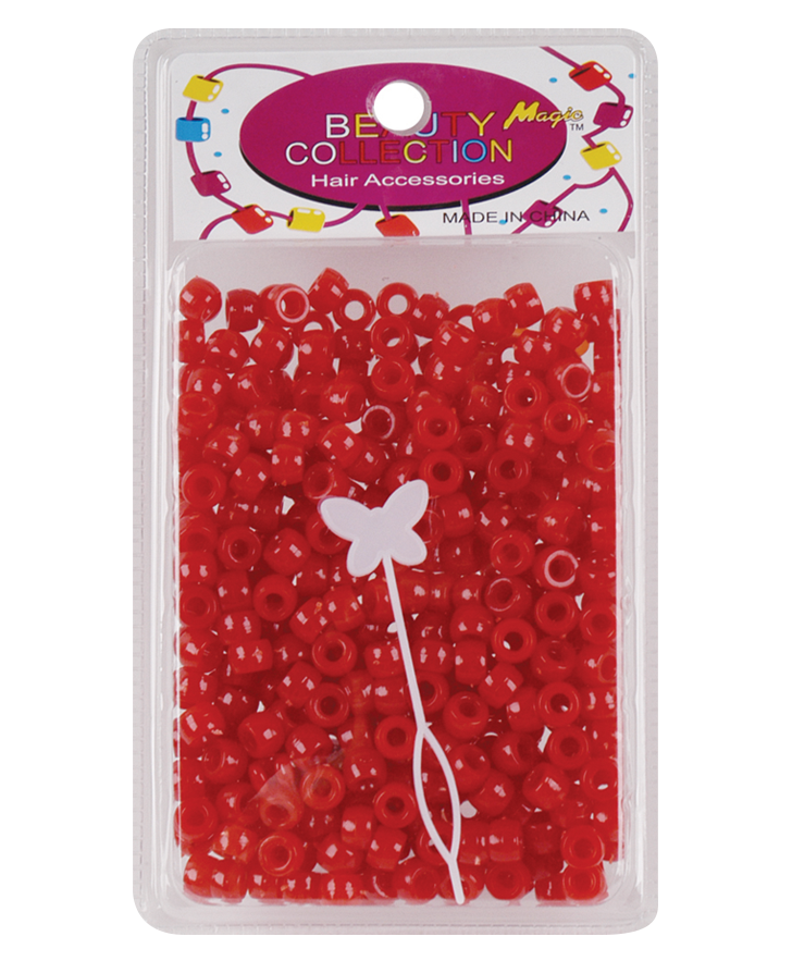 Beauty Collection Round Bead 8mm Red - Beauty Bar & Supply