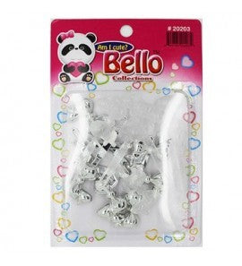 Bello Collections Hair Barrette-Silver Glitter 20203 - Beauty Bar & Supply