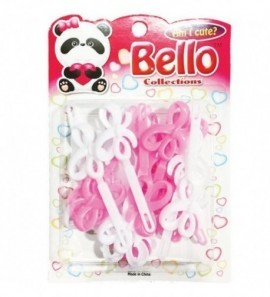 Bello Collections Hair Barrette-Pink 28004 - Beauty Bar & Supply