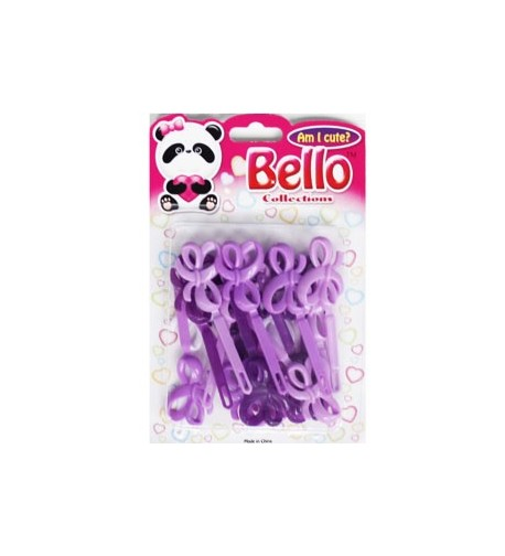 Bello Collections Hair Barrette-Violet 28014 - Beauty Bar & Supply