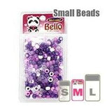 Belllo Collections 500pc Beads-Violet/White 31032 - Beauty Bar & Supply