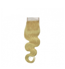 Lx Hair Collection Brazilian Blonde Body Wave Human Hair Grade 8 Lace Closure - Beauty Bar & Supply