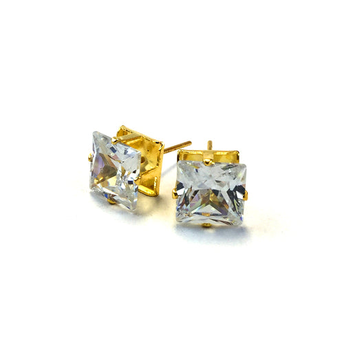 Natural CZ Stud Earrings CQG8 - Beauty Bar & Supply