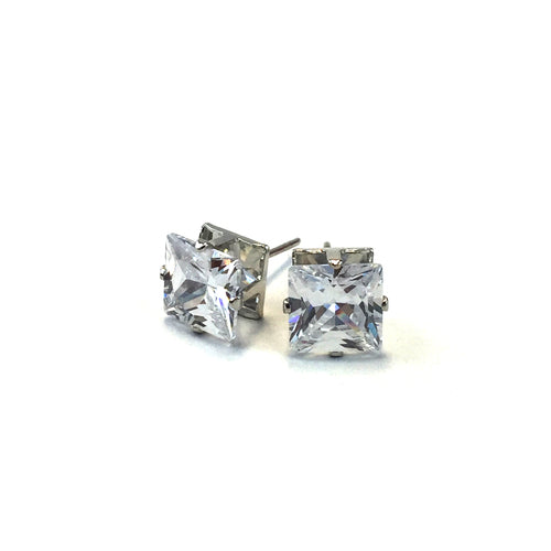 Natural CZ Stud Earrings CQS8 - Beauty Bar & Supply