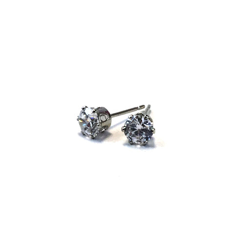 Natural CZ Stud Earrings CRS5 - Beauty Bar & Supply