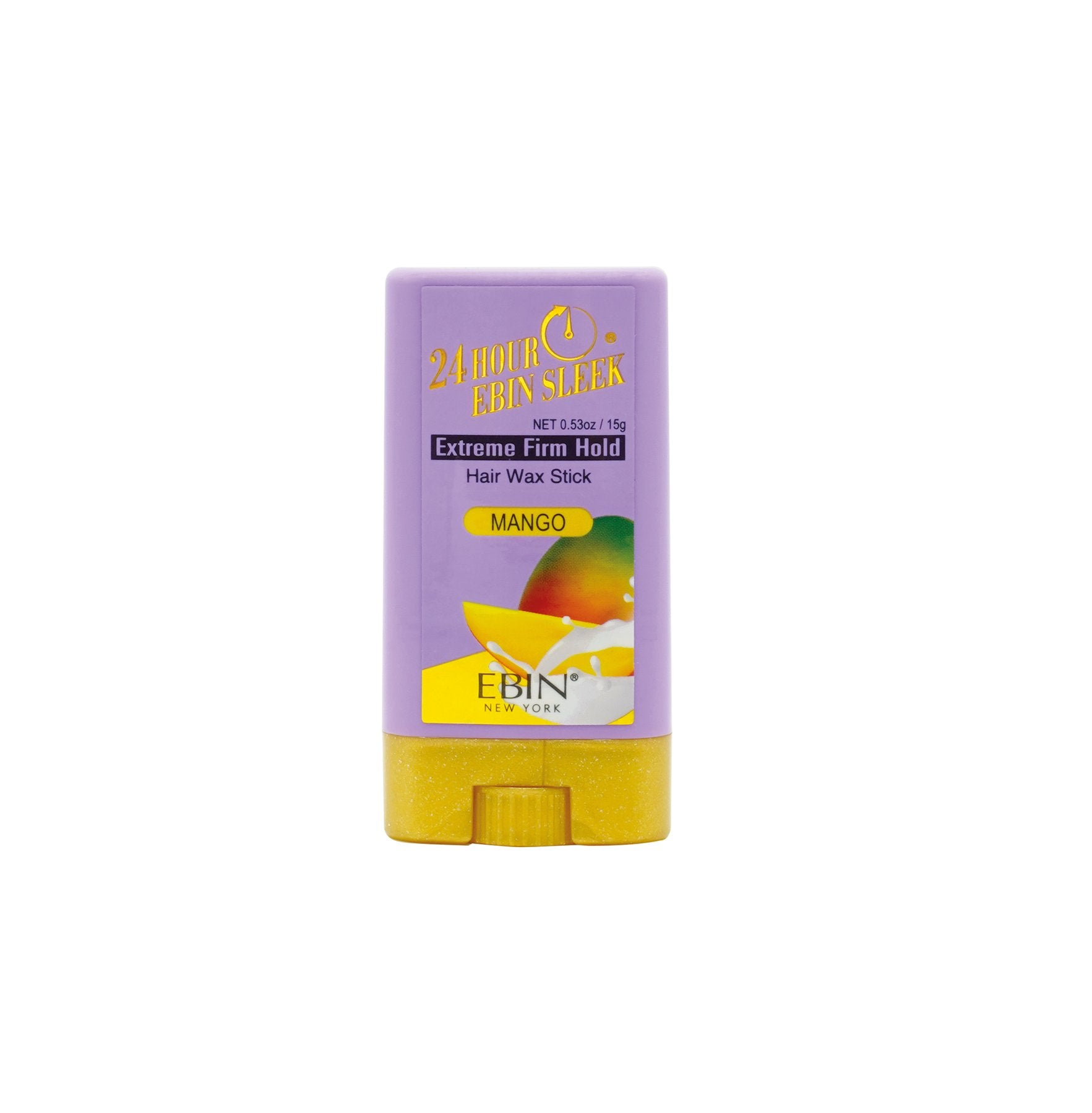 Ebin New York 24Hour Sleek & Go Extreme Firm Hold Wax Stick-Mango