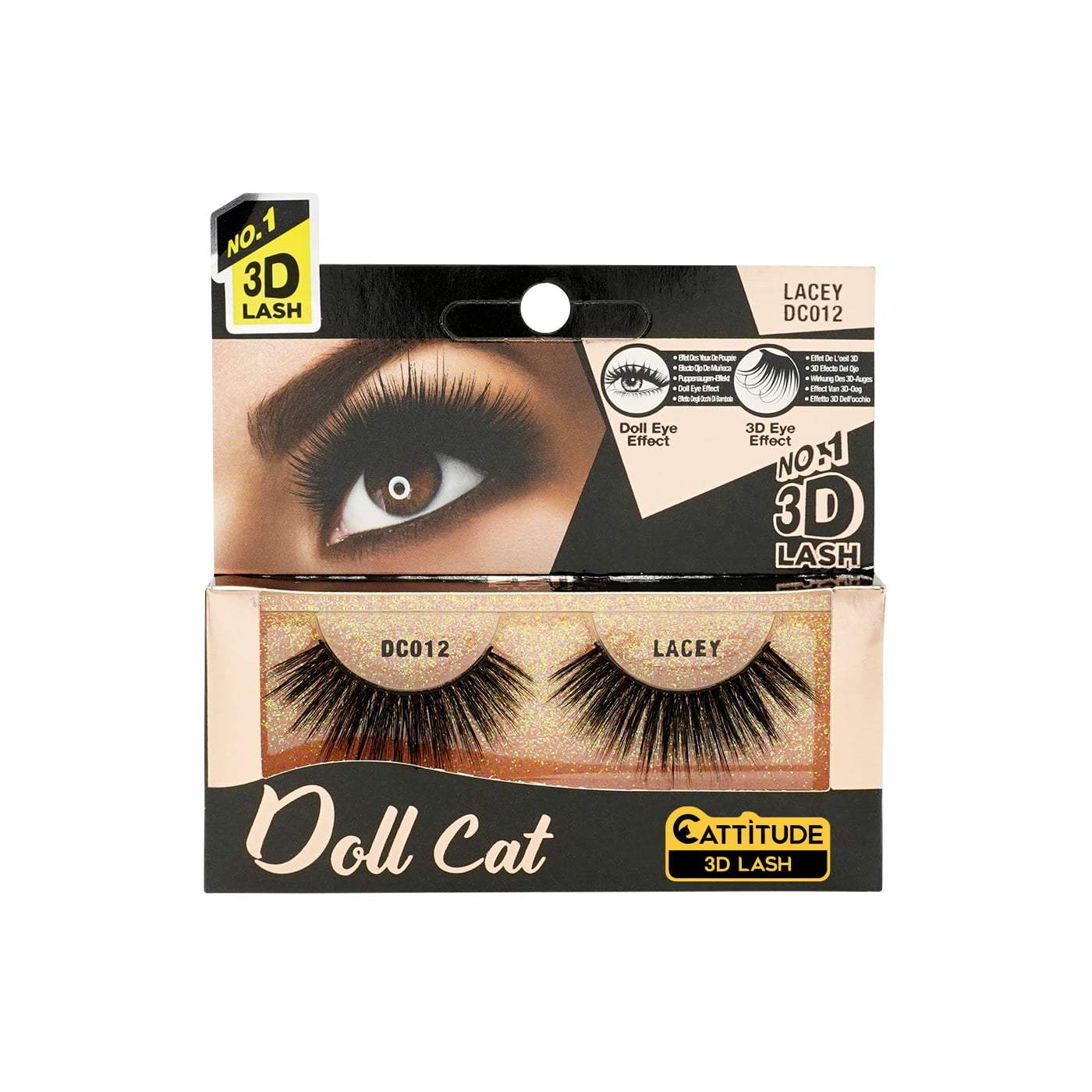 Ebin New York Doll Cat 3D Eye Lashes-Lacey