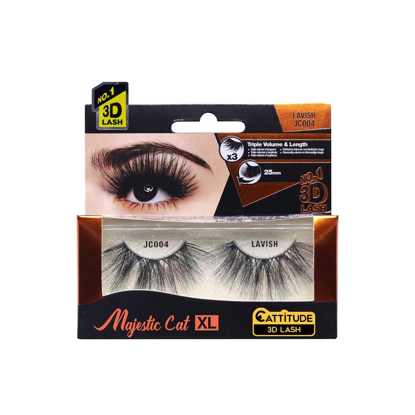 Ebin New York Majestic Cat 3D Eye Lashes-Lavish