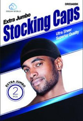 Dream Ex Jbo Stocking Caps DRE40BK - Beauty Bar & Supply