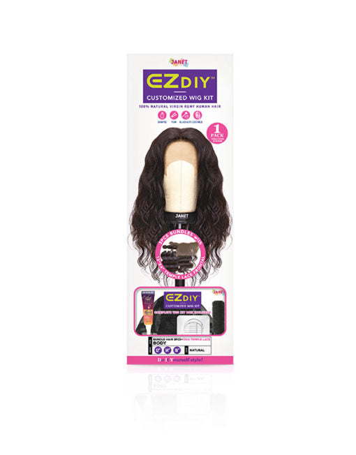 Janet Collection EZ DIY Human Hair Weaving Kit -Body Wave - Beauty Bar & Supply