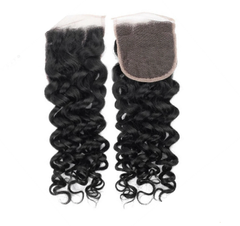 Lx Hair Collection Brazilian  Virgin Hair Grade 8 French Curly Lace Closure - Beauty Bar & Supply
