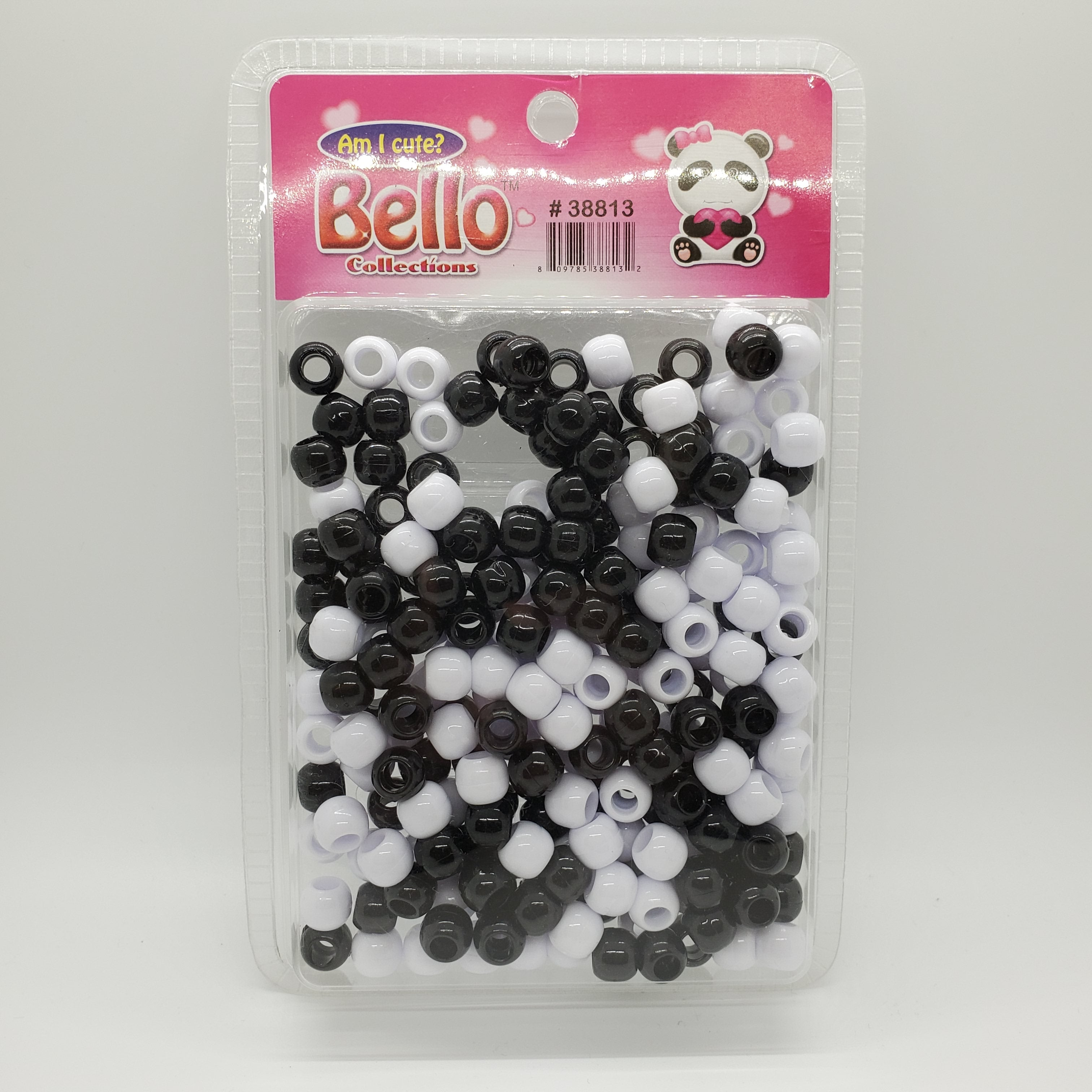 Bello Collections Jumbo Beads Black/White #33813 - Beauty Bar & Supply