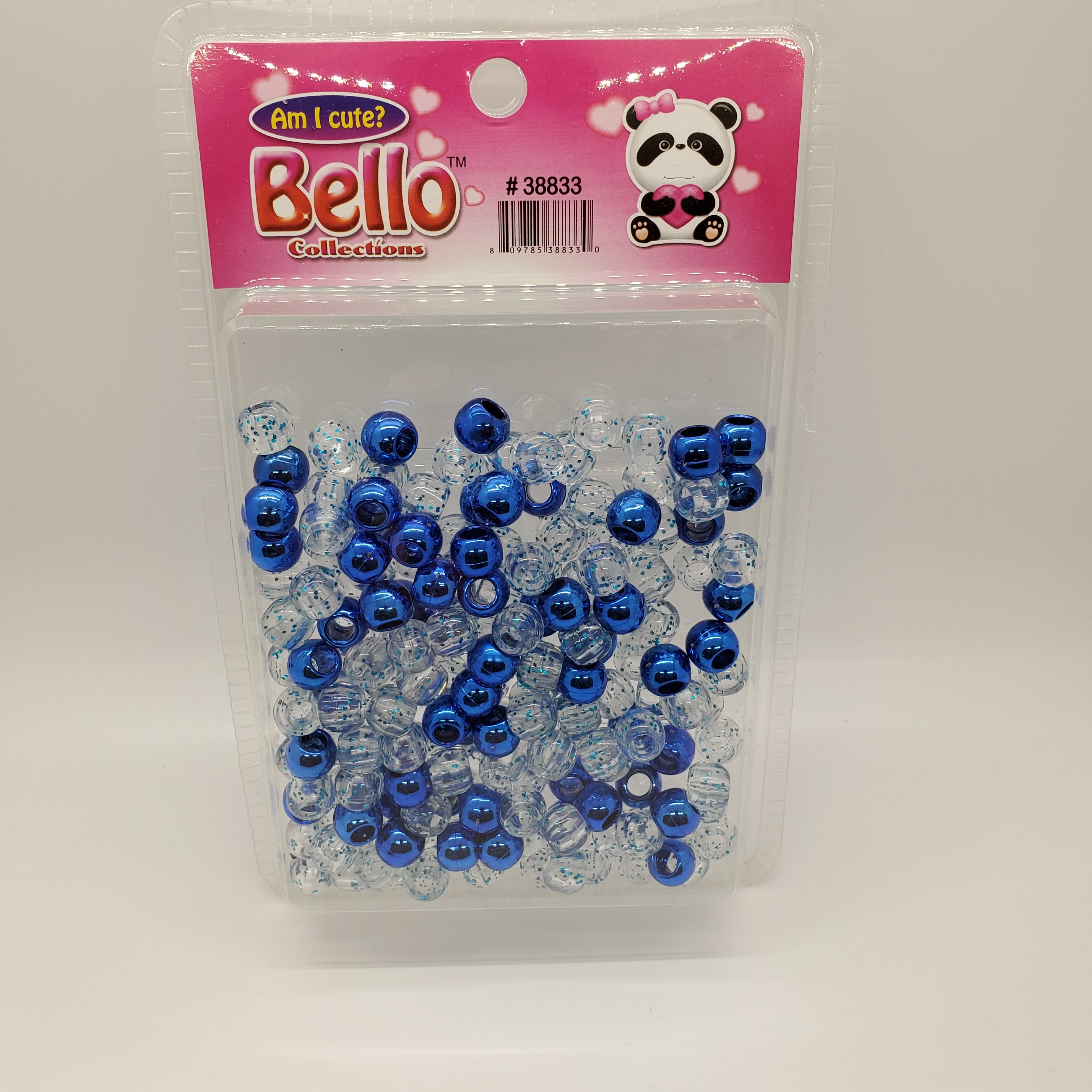 Bello Collection Bead Blue/Clear Glitter Blue #38833 - Beauty Bar & Supply