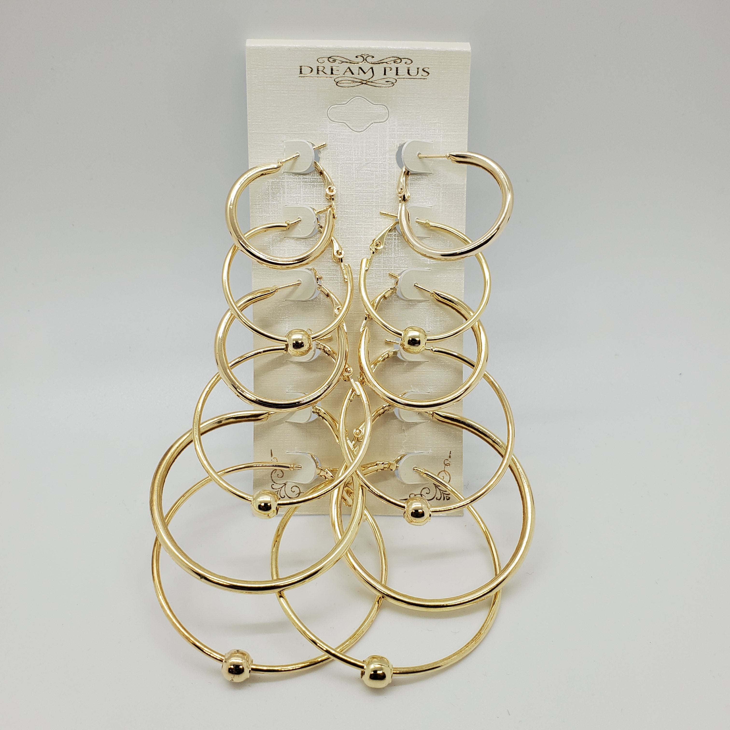 Dream Plus Gold Hoops 6 pack - Beauty Bar & Supply