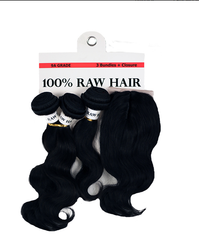Human Hair 9A Raw Multipack Body Wave with closure - Beauty Bar & Supply