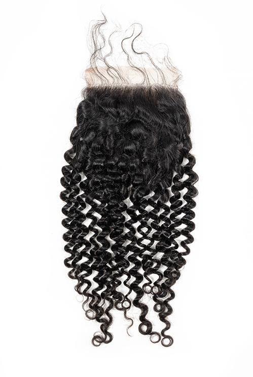BBS Grade 8 Virgin Human Hair Kinky Curly 4x4 Closure - Beauty Bar & Supply
