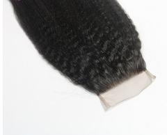 Lx Hair Collection Brazilian Kinky Straight Virgin Human Hair Grade 8 Closure - Beauty Bar & Supply