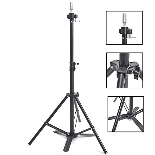 Adjustable Practice Mannequin Head Holder Tripod Stand with Carry Bag - Beauty Bar & Supply
