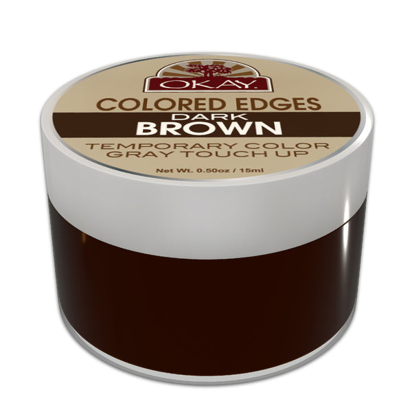 Okay Colored Edges Dark Brown - Beauty Bar & Supply