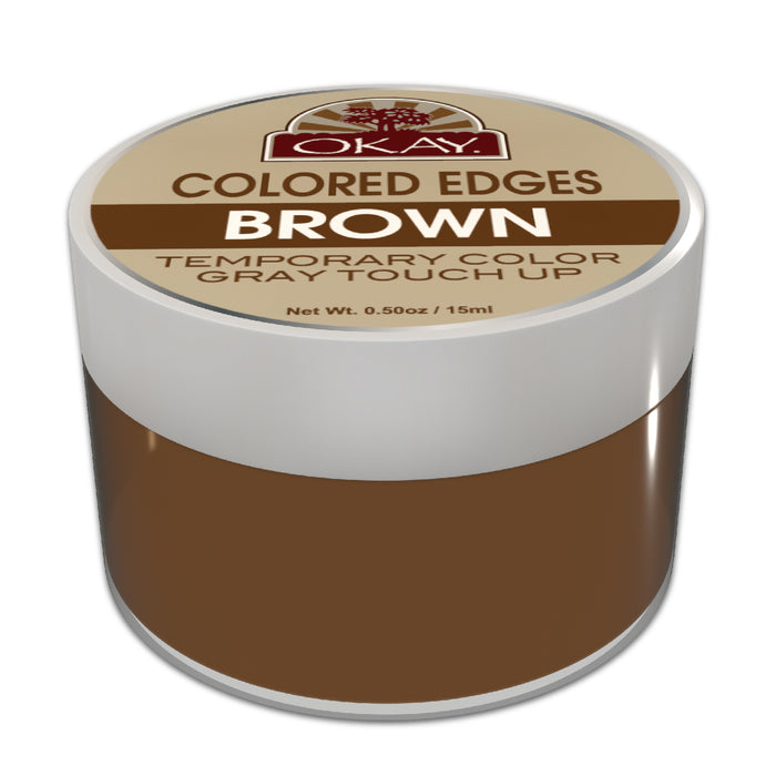 Okay Colored Edges Brown - Beauty Bar & Supply