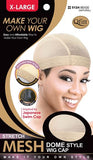 QFitt Mesh Dome Style Wig Cap-X-Large - Beauty Bar & Supply