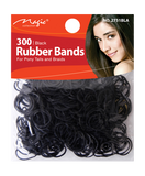 Magic Collection 300 Rubber Bands 2751BLA - Beauty Bar & Supply