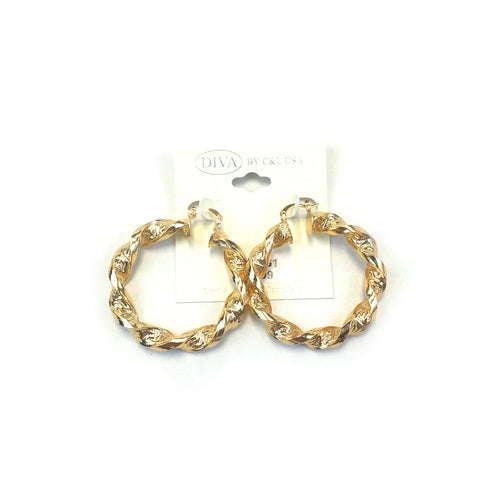 Spanish Brass Hoop Gold SBHG1 - Beauty Bar & Supply