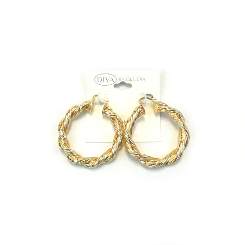 Spanish Brass Hoop Gold SBHG2 - Beauty Bar & Supply