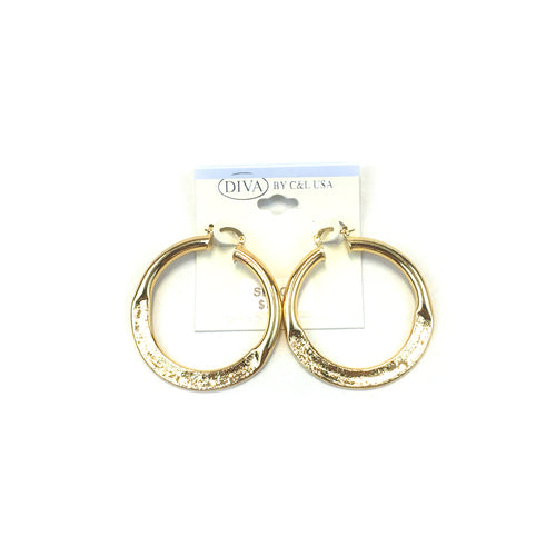 Spanish Brass Hoop Gold SBHG4 - Beauty Bar & Supply