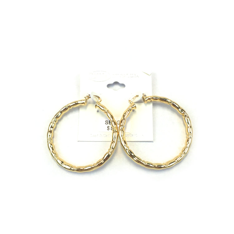 Spanish Brass Hoop Gold SBHG9 - Beauty Bar & Supply
