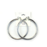 Spanish Brass Hoop Silver SBHS12 - Beauty Bar & Supply