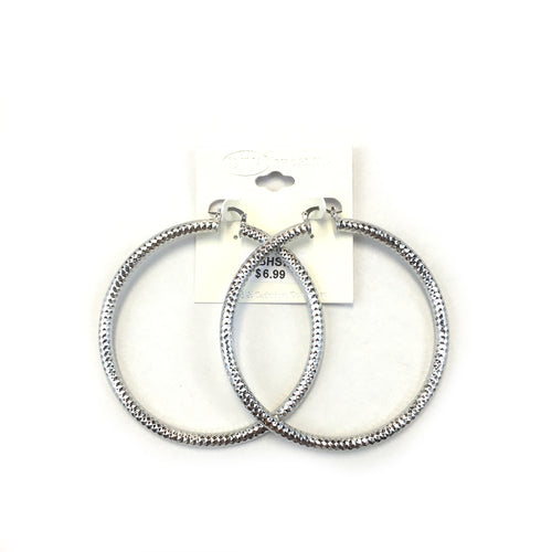 Spanish Brass Hoop Silver SBHS7 - Beauty Bar & Supply