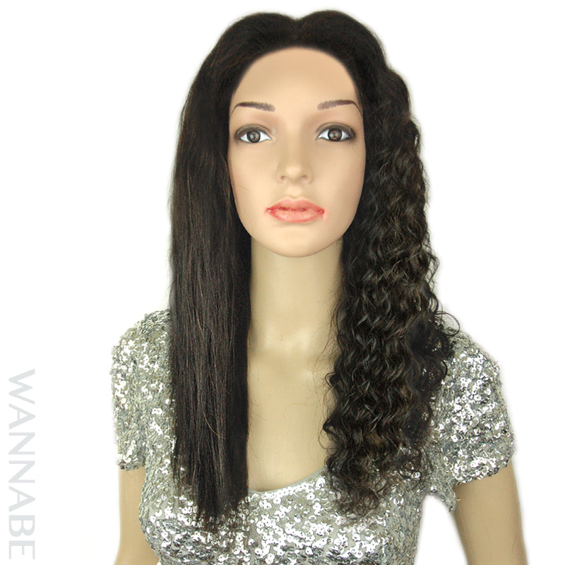 WannaBe Wet & Wavy Remy Brazilian Human Hair Premium 360 Lace Front Wig-Comley - Beauty Bar & Supply