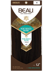 CHOCOLATE BEAU 100% VIRGIN REMY WEAVING HAIR - PURE FRENCH REFINE 12""