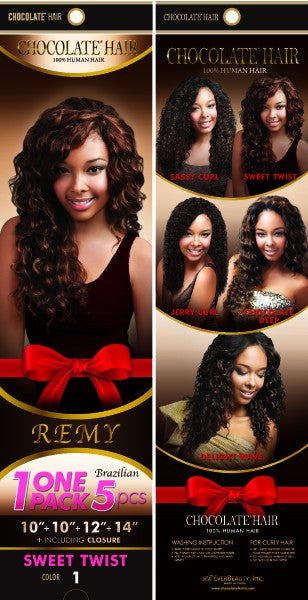 Chocolate Hair  Sweet Twist 1 pack 5 pcs - Beauty Bar & Supply