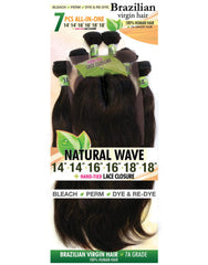 Urban Beauty Natural Wave Brazilian Virgin Hair 7 pc - Beauty Bar & Supply