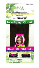 Bare Beauty Brazilian Virgin Lace Frontal Closure-Straight - Beauty Bar & Supply