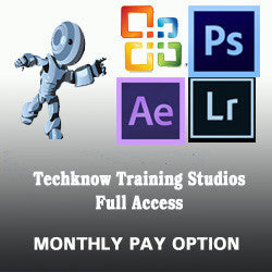 2 - TechKnow Training Studios - Full Access (Single) - Monthly