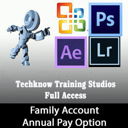 5 - Techknow Training Studios - Full Access (Family-2) - Annual