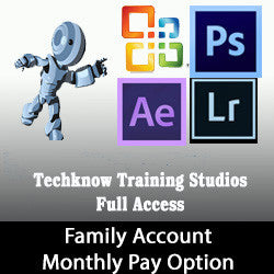4 - Techknow Training Studios - Full Access (Family) - Monthly