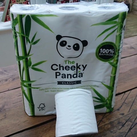 The Cheeky Panda Bamboo Toilet Tissue - 9 Rolls