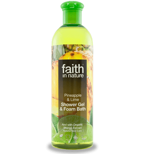 Faith in Nature Pineapple & Lime Shower Gel & Foam Bath