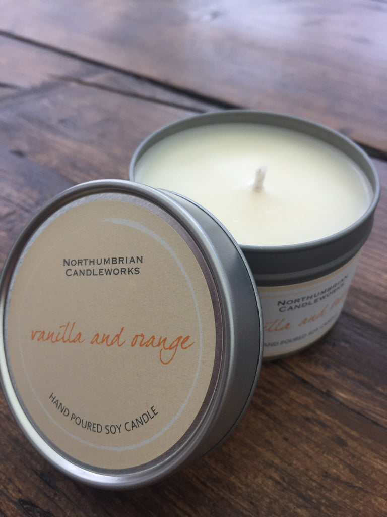 Soy Candle, Small, Vanilla & Orange