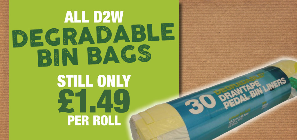 Degradable bin bags from D2W - Special Offer
