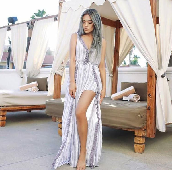 Sangyay C Wearing The Mykonos Tassel Maxi.