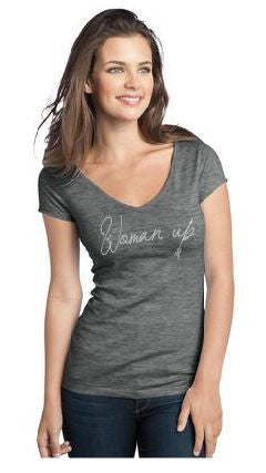 Woman Up // Junior V neck Tee