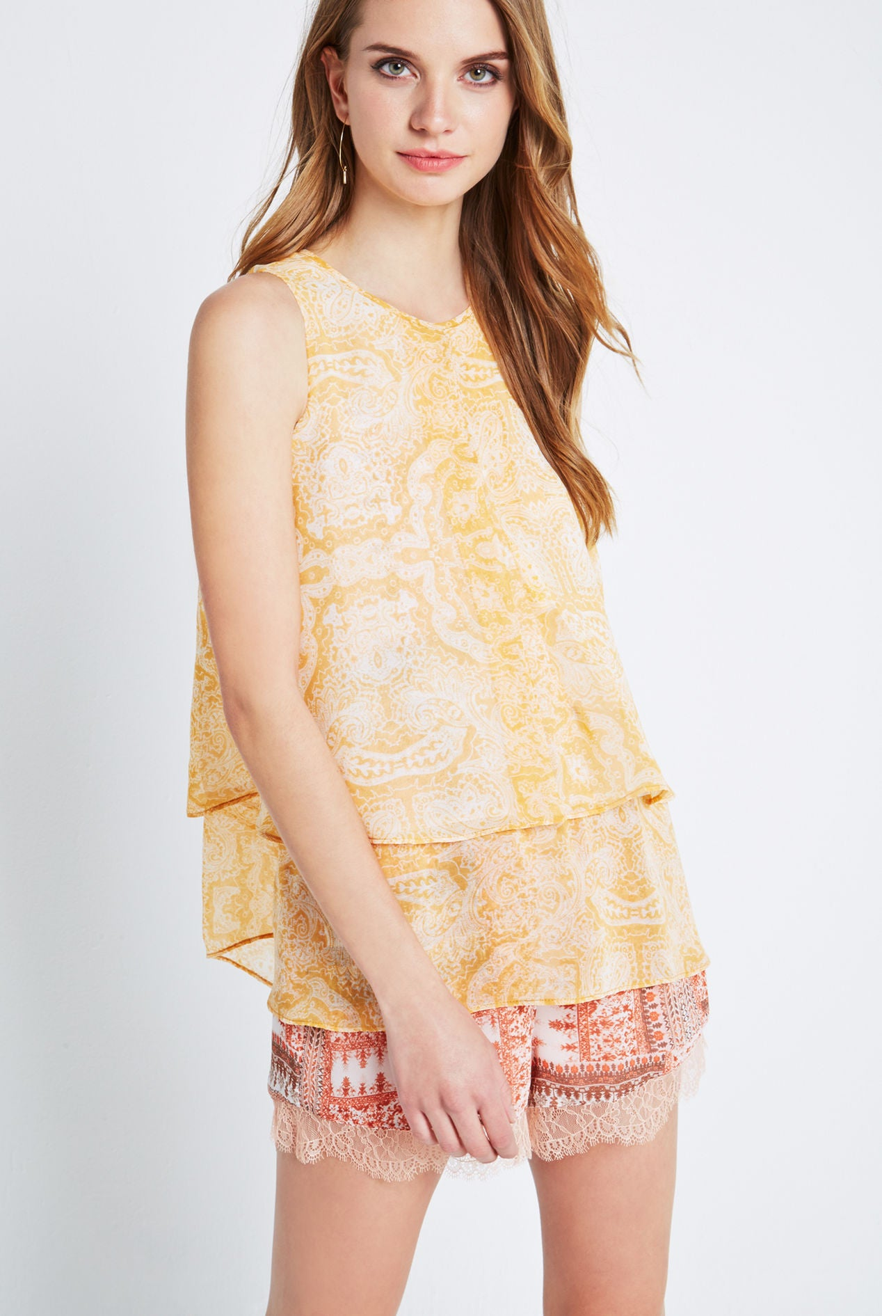Tiered Paisley Tank