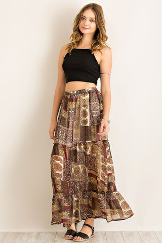 Patchy Paisley Maxi
