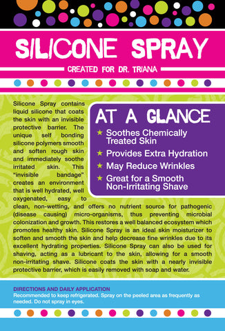 Silicone Spray Information Card